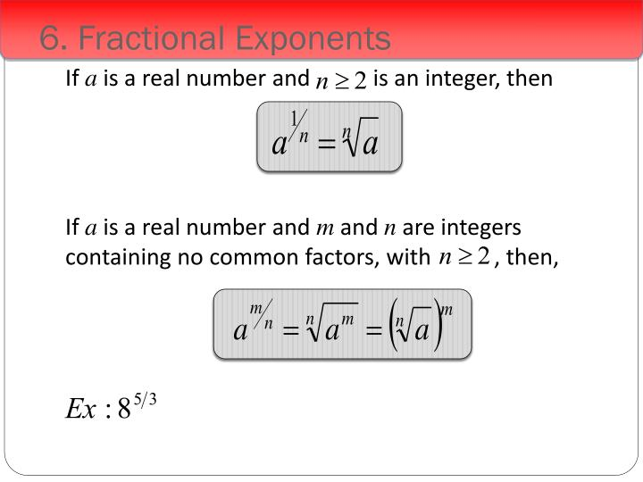 6. Fractional Exponents