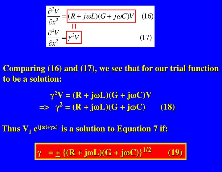 Comparing (16) and (17), we see that for our trial function to be a solution:
