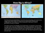 how big is africa