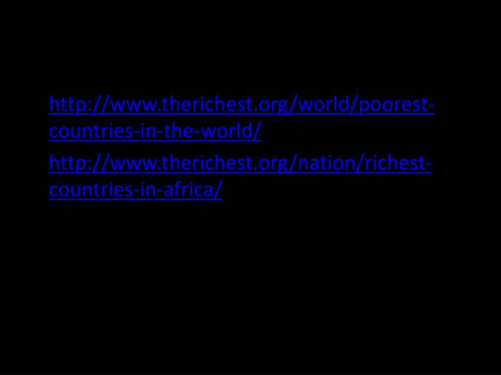 http://www.therichest.org/world/poorest-countries-in-the-world/