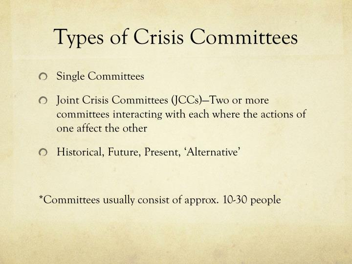 Types of crisis committees