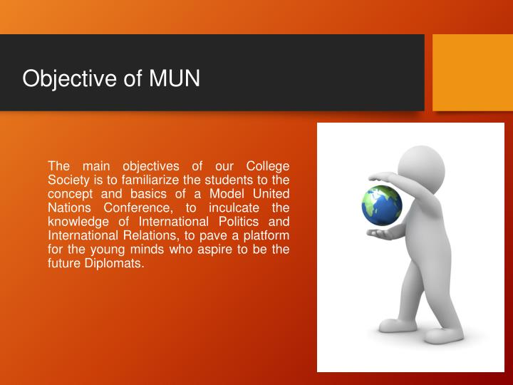 Objective of mun