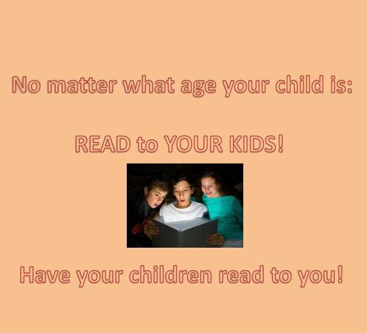 No matter what age your child is: