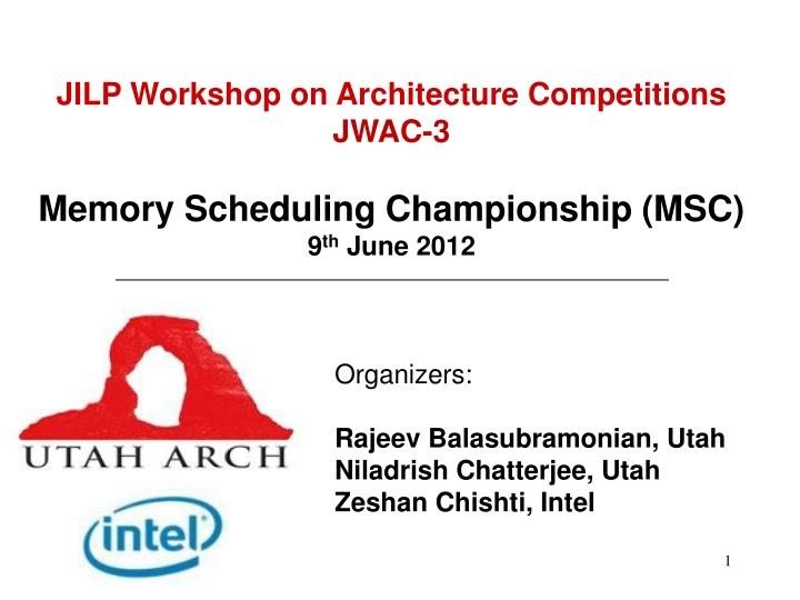 JILP Workshop on Architecture Competitions