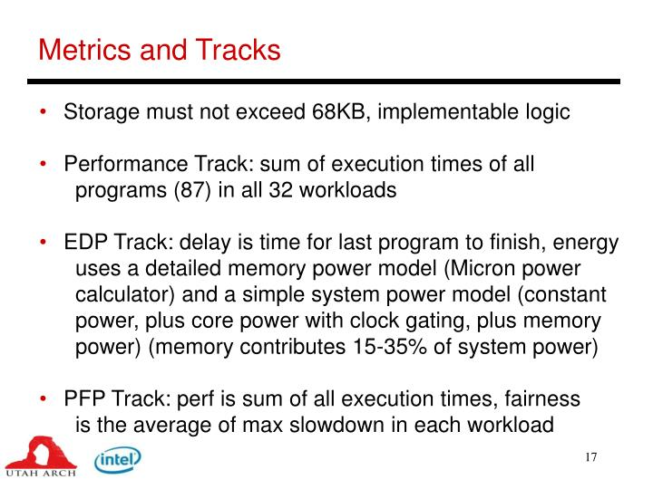 Metrics and Tracks