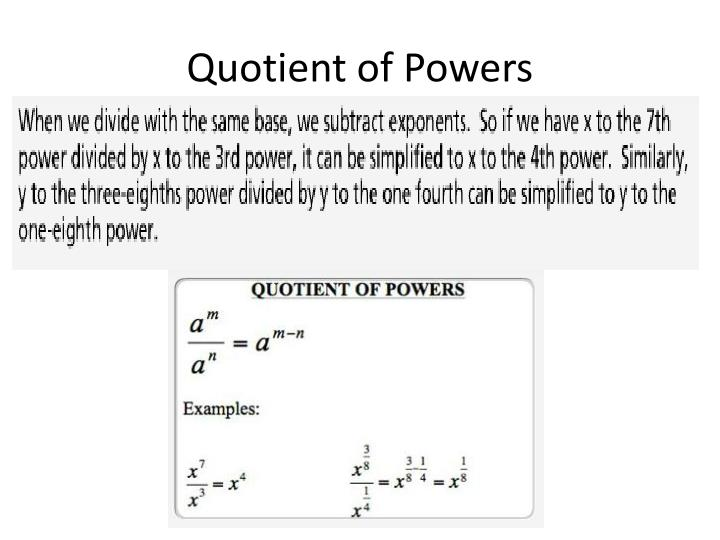 Quotient of Powers