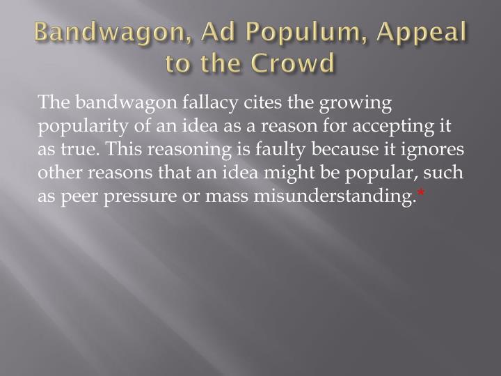 Bandwagon, Ad