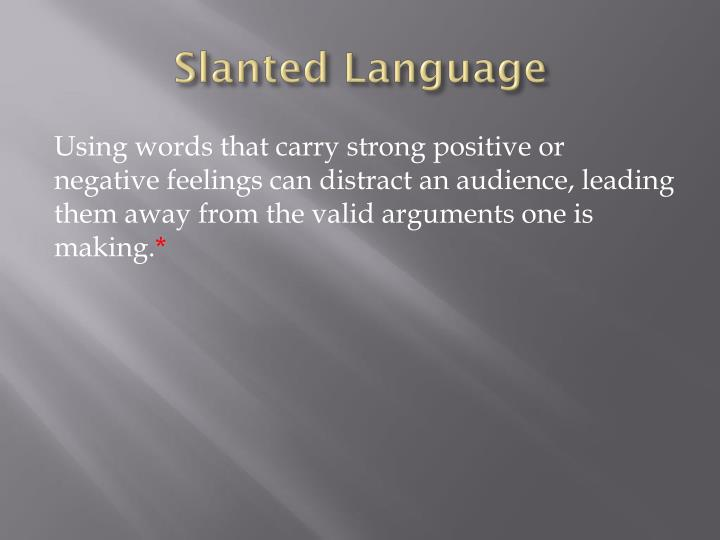 Slanted Language