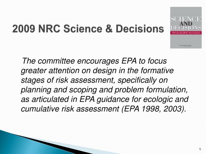 2009 NRC Science & Decisions