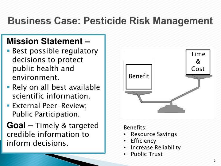 Business Case: Pesticide Risk Management