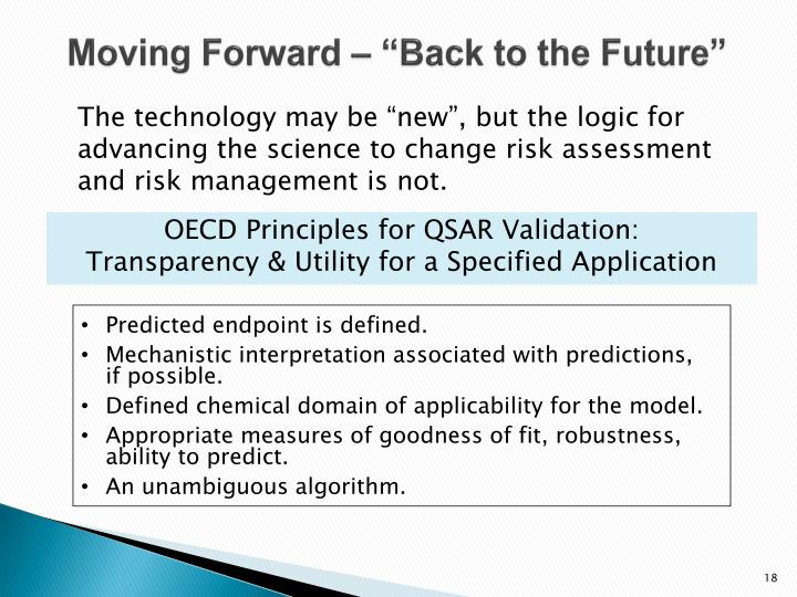 "Moving Forward – ""Back to the Future"""