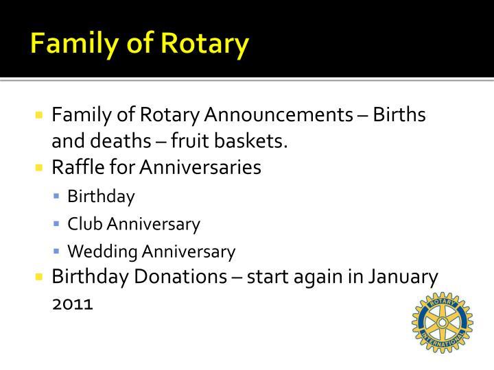 Family of Rotary