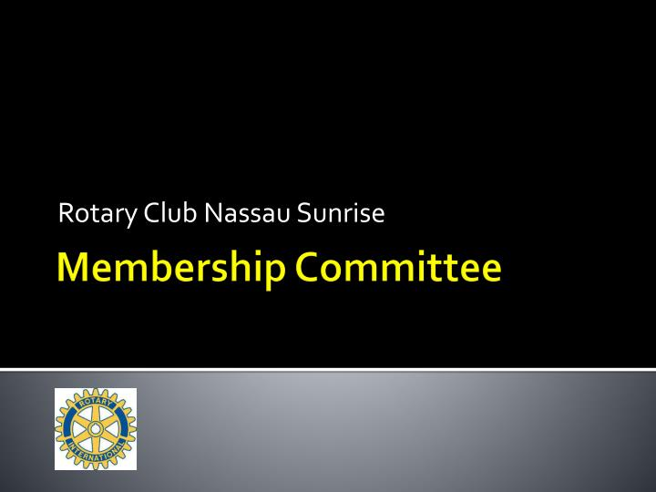 Rotary Club Nassau Sunrise