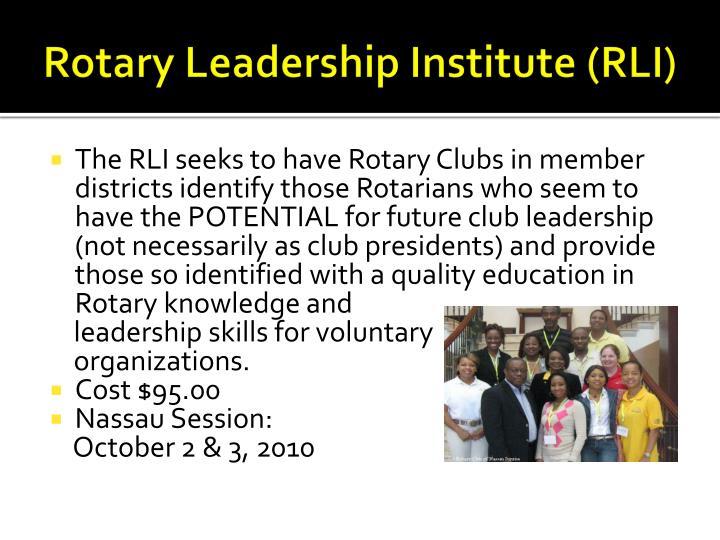 Rotary Leadership Institute (RLI)