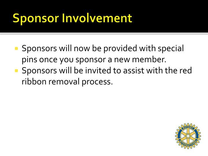 Sponsor Involvement