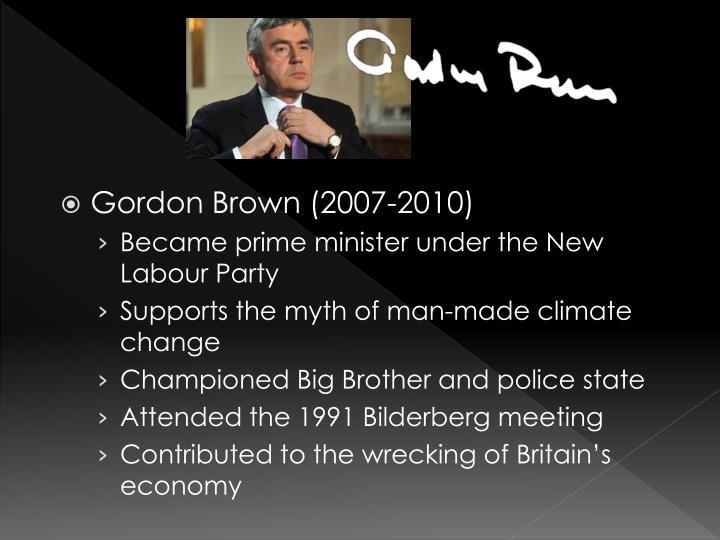 Gordon Brown (2007-2010)