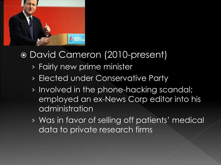David Cameron (2010-present)