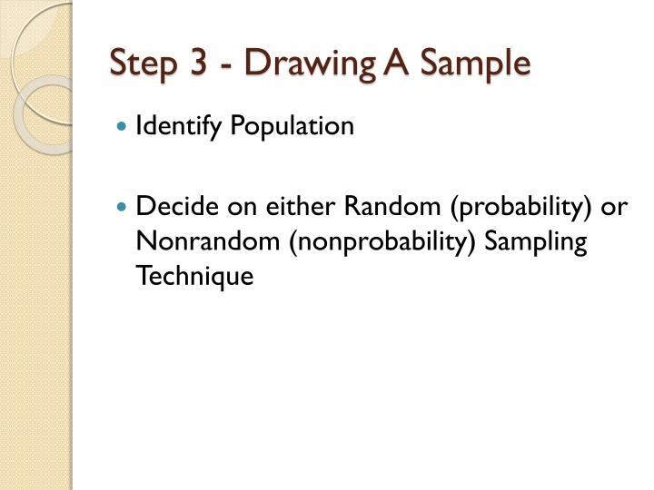 Step 3 drawing a sample