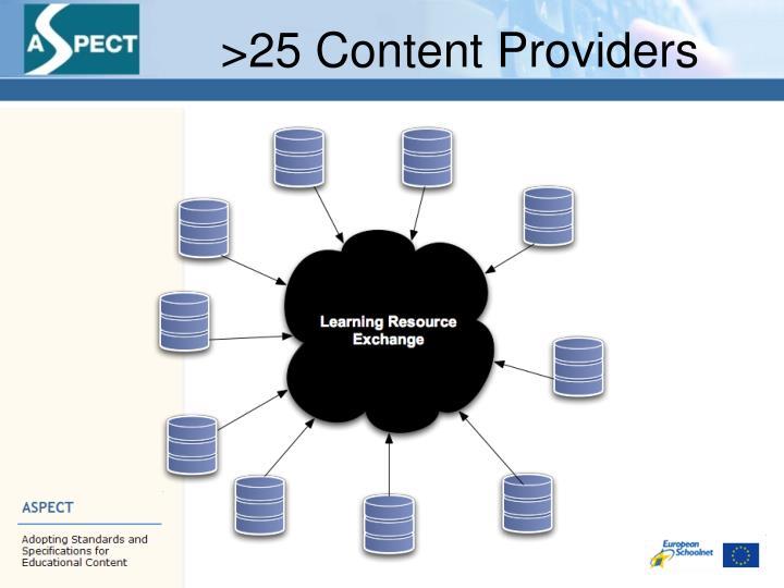 >25 Content Providers