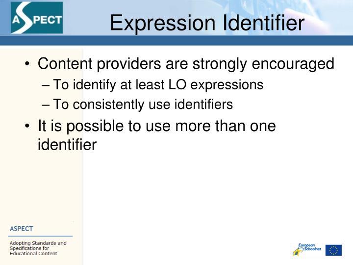 Expression Identifier