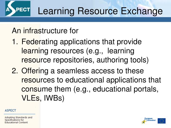 Learning Resource Exchange