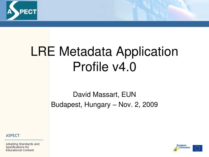 Lre metadata application profile v4 0