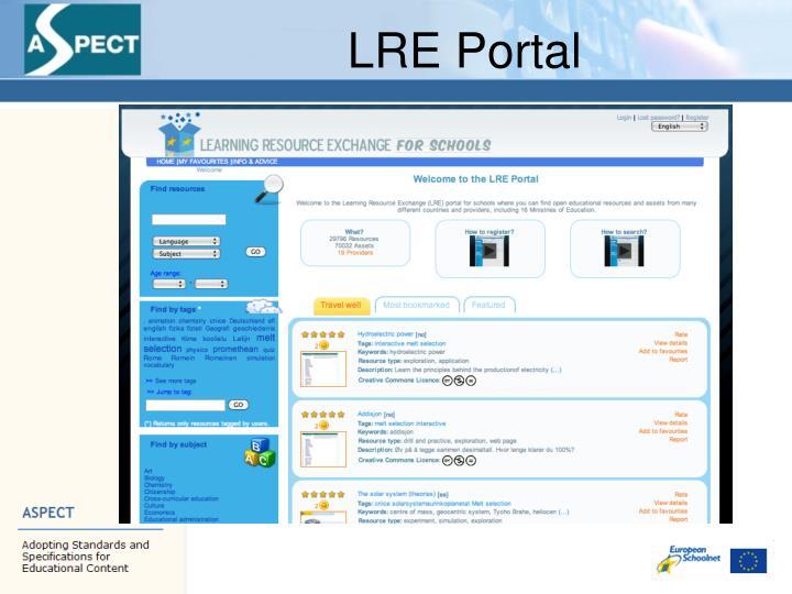 LRE Portal