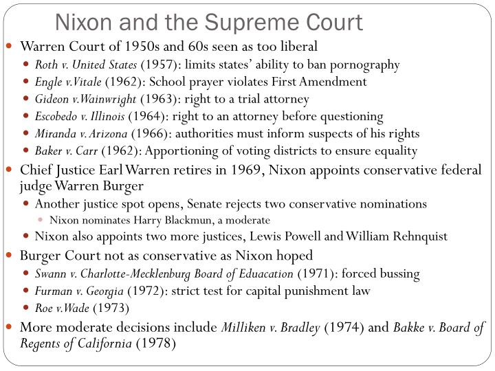Nixon and the Supreme Court