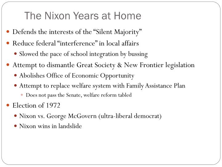 The Nixon Years at Home