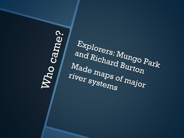 Explorers: