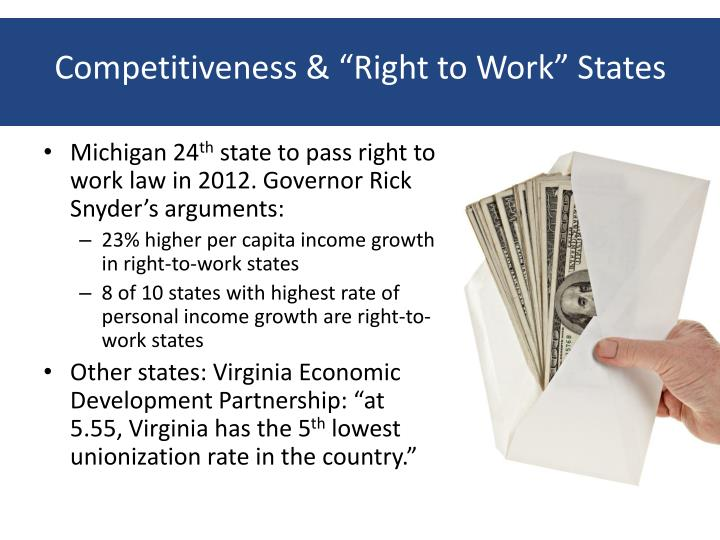 "Competitiveness & ""Right to Work"" States"