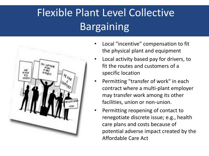 Flexible Plant Level Collective Bargaining