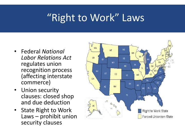 """Right to Work"" Laws"