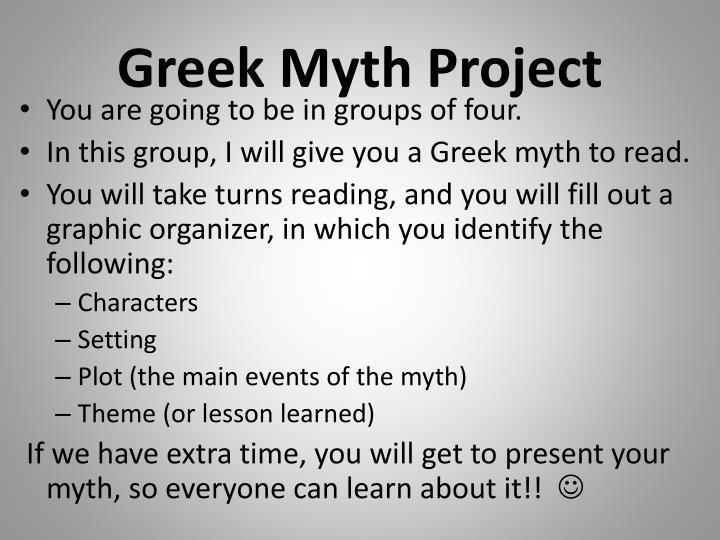 Greek Myth Project