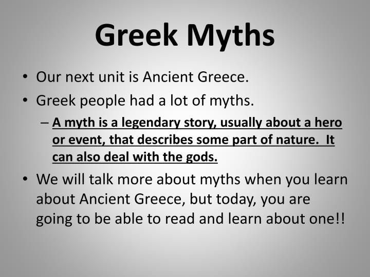 Greek Myths