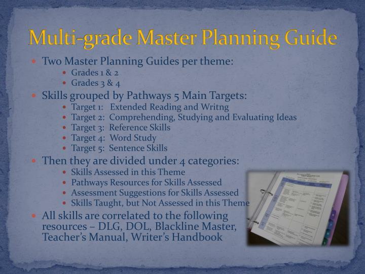 Multi-grade Master Planning Guide