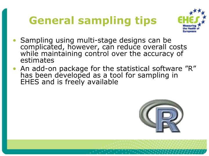 General sampling tips