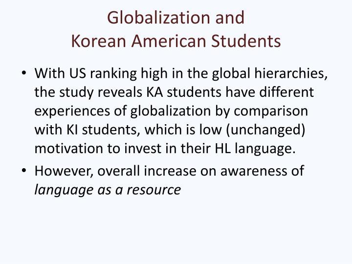 Globalization and