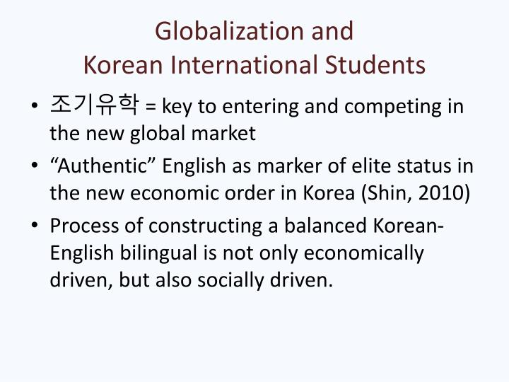 Globalization and