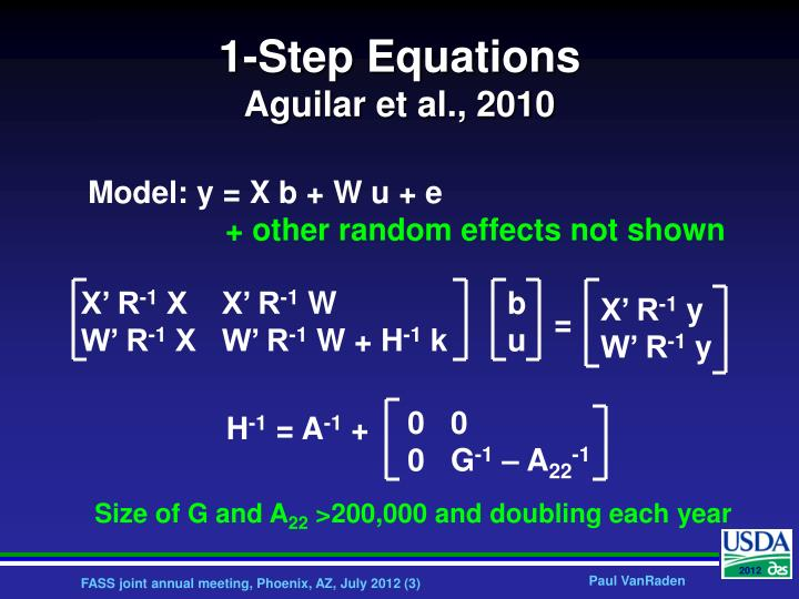 1 step equations aguilar et al 2010