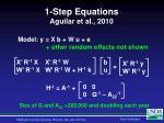 1 step equations aguilar et al 2010