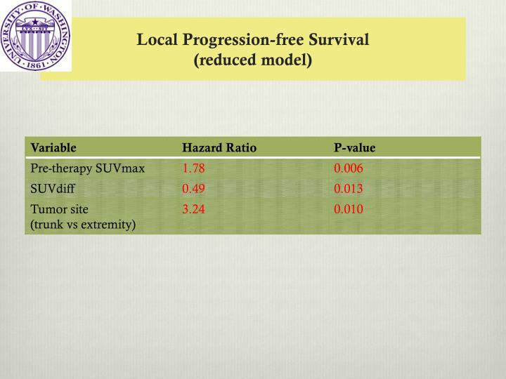 Local Progression-free Survival