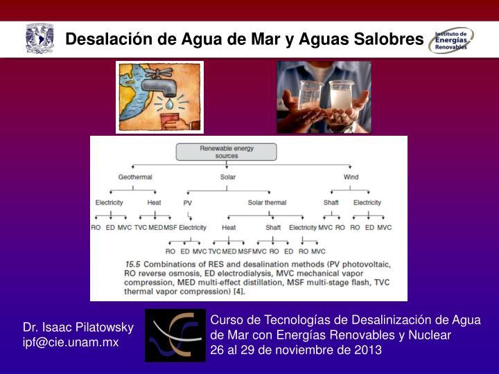 Desalación de Agua de Mar y Aguas Salobres