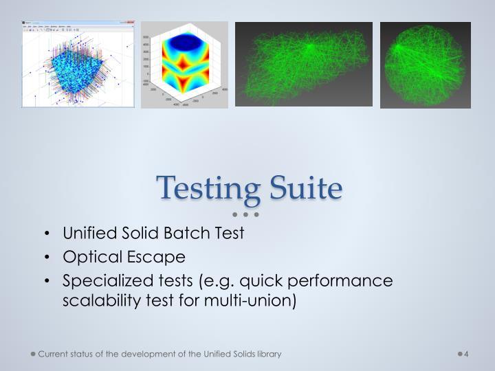 Testing Suite