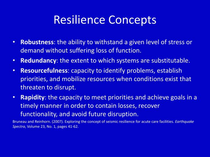 Resilience Concepts