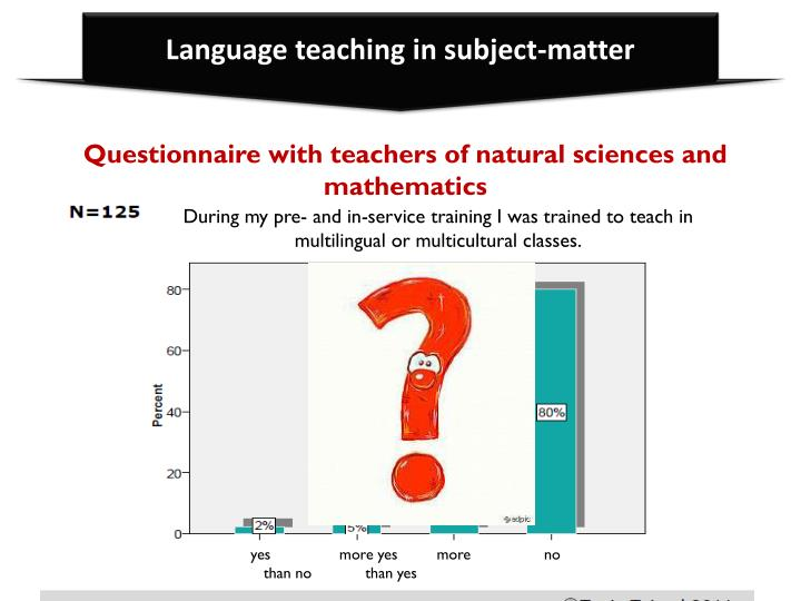 Language teaching in subject-matter