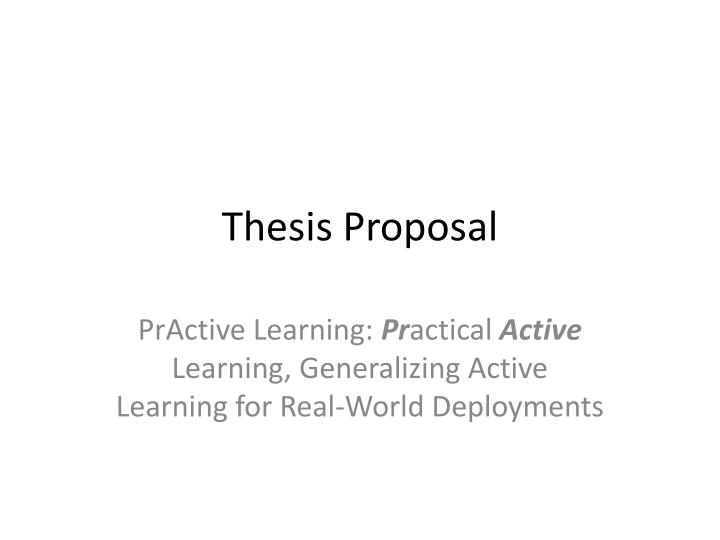 i.t thesis proposal