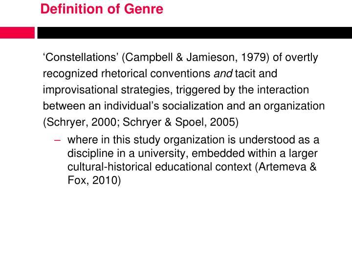 Definition of Genre