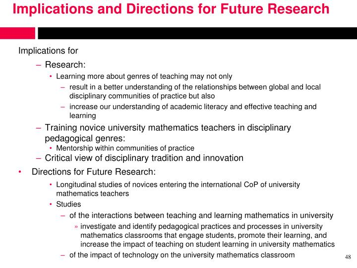 Implications and Directions for Future Research