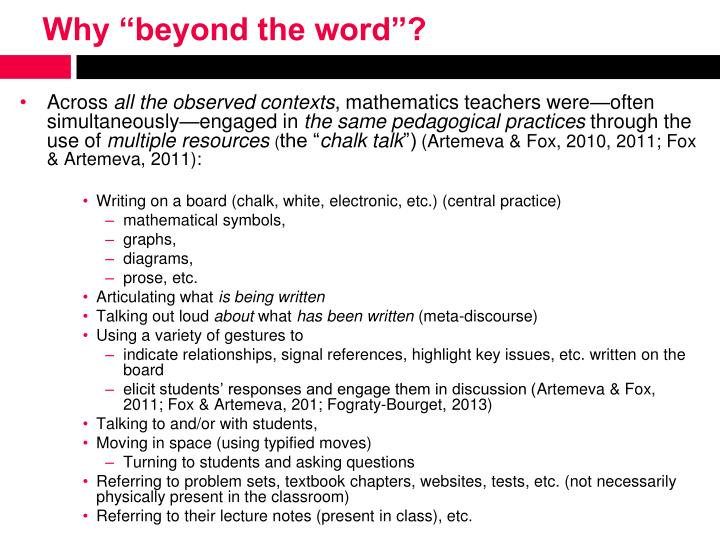 """Why """"beyond the word""""?"""